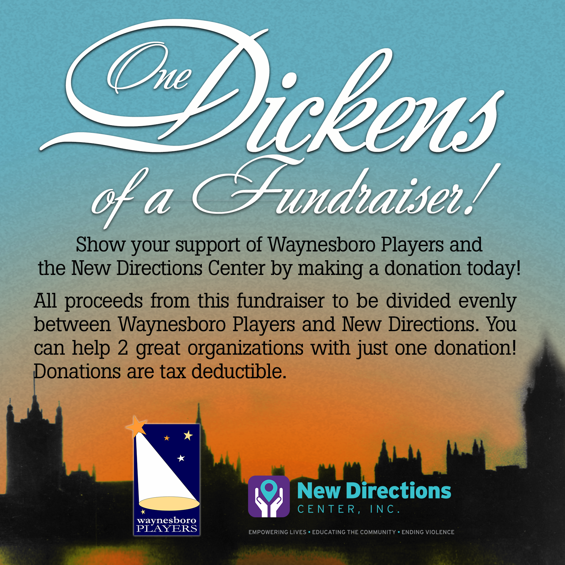 Donate to help New Directions and the Waynesboro Players